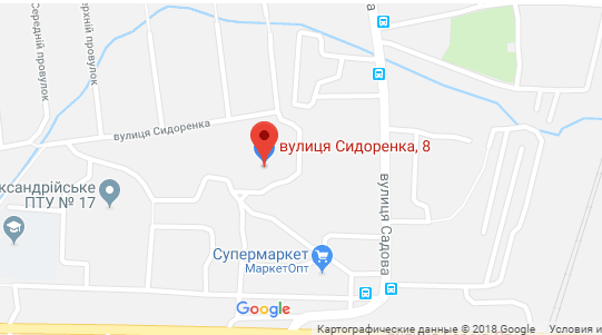 гугл мапс акс сидоренка 8